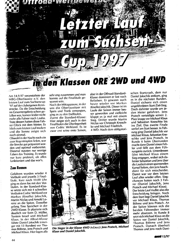 Sachsencup 1997